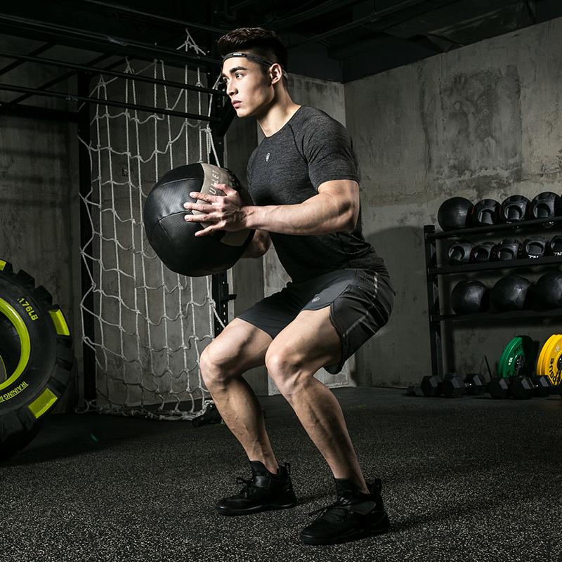 健身套装男紧身衣健身房训练服跑步运动套装男春夏季大码运动服男