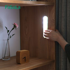 Household LED cabinet light cabinet bottom light wireless corridor porch paste light bar with heart stickers portable hand pressure night light