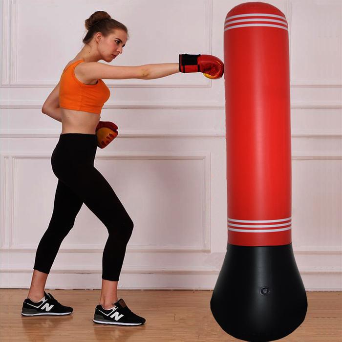 健身**儿童充气立式拳击柱不倒翁家用充气沙袋泄愤玩具加厚玩耍
