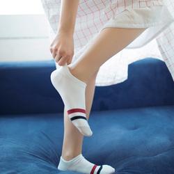 靴下物隐形船袜女夏季薄款浅口单鞋袜运动低帮短袜子日系条纹棉袜