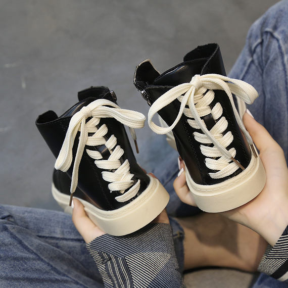 Harajuku casual shoes female ulzzang Korean version of the wild autumn students 2018 new hip hop shoes high to help women's shoes