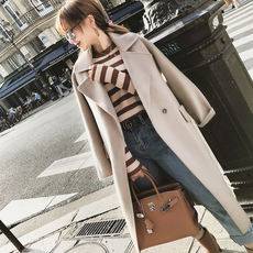 [Anti-season clearance, does not support return] double-sided long and double-faced woolen coat CD73150