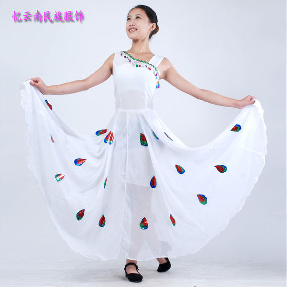 Yunnan Peacock Dance Performance Costume Fishtail Skirt Performance Dai Dance Costume Dance Children's Set Clothing 2016