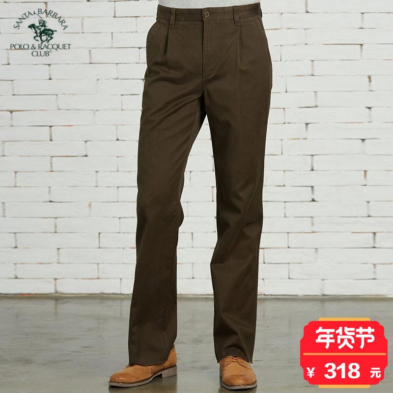 S.B.Polo/圣大保罗 男士纯色商务休闲裤 PW14WP102