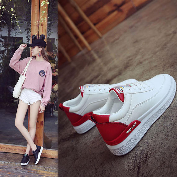Little white shoes female New autumn new wild Korean version of thick-soled students increased sports casual shoes shoes canvas shoes