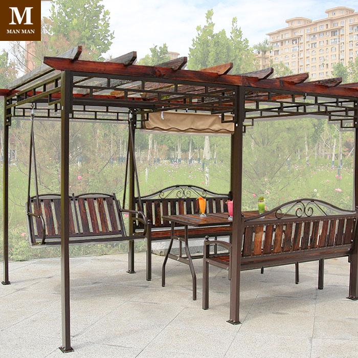 桌椅葡萄架铝合金庭院花园凉亭花架爬藤阳台亭子楼顶廊架秋千包邮