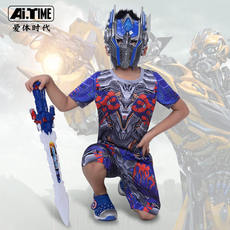 Transformers Children's Wear Boy Set Summer Bumblebee Optimus Prime Short Sleeve Shorts Transformers 5T Shirt Children