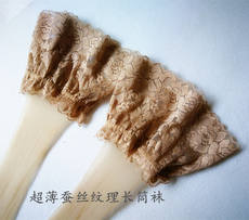 Japanese long silk long silk silicone lace anti-slip long tube stockings skin texture ultra-thin invisible high socks