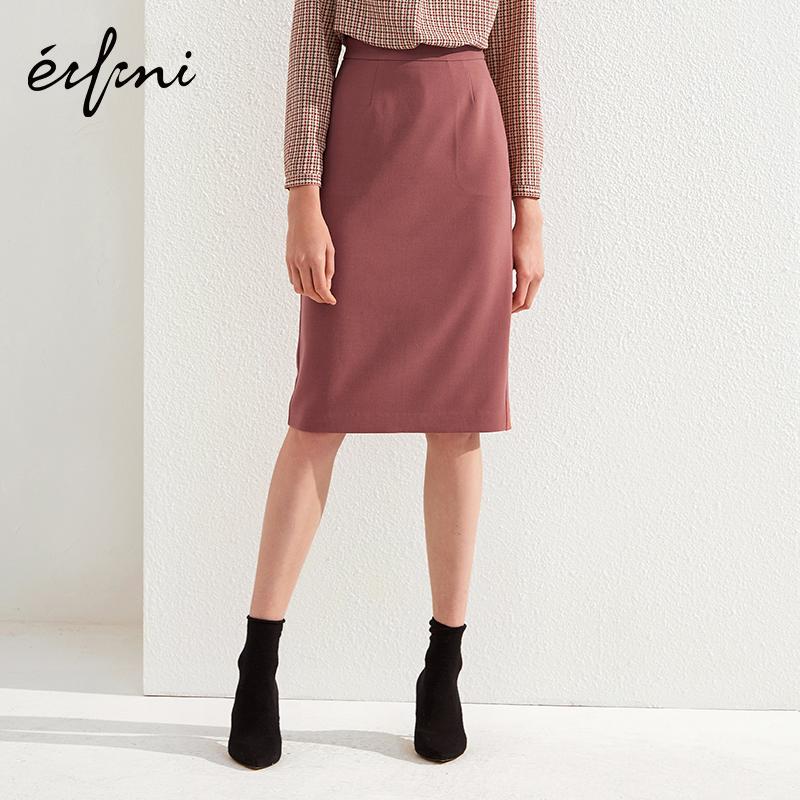 伊芙丽2018春装新款韩版复古港味时尚气质修身中长款包臀裙半身裙