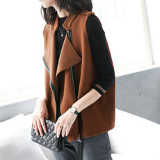 Bao Shili 2017 new loose vest female short paragraph spring and autumn wild casual wool jacket sleeveless woolen coat