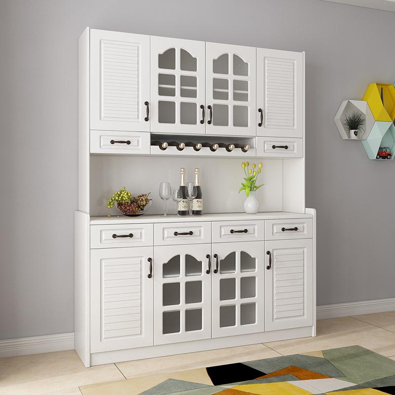现代简约餐边柜高柜酒柜客厅储物柜茶水柜多功能白色碗柜厨房收纳