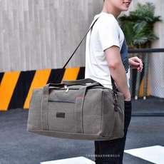 Lightweight and simple large-capacity canvas hand luggage bag travel big bag male work home loading clothes backpack bag