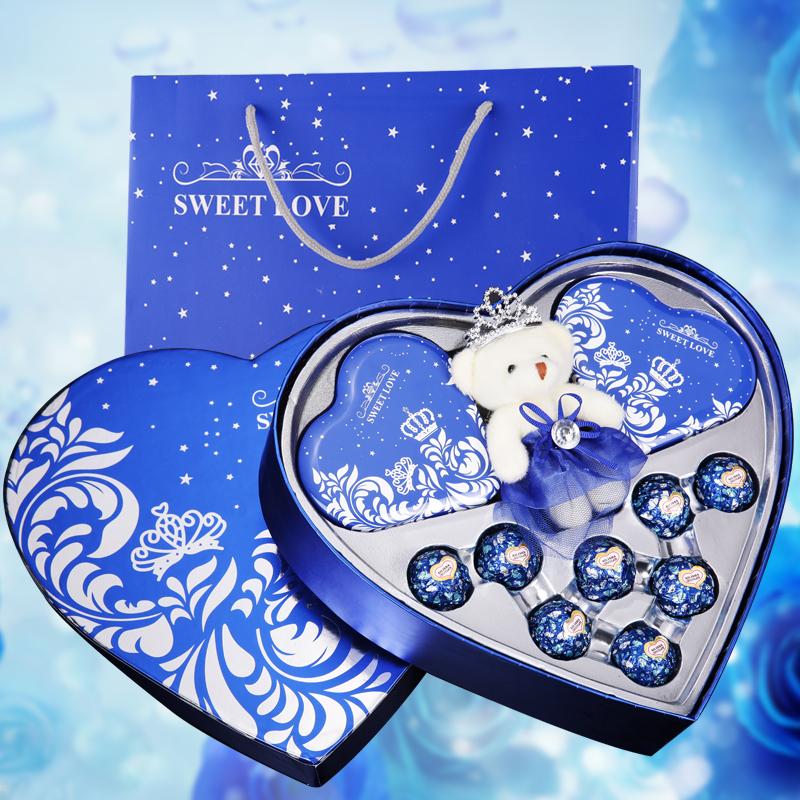 德芙巧克力礼盒装创意糖果六一儿童节送女友闺蜜心型表白生日礼物