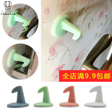 Thick silicone door rear wall anti-collision hook pad door handle mute anti-collision stickers with hook shock pad door protection pad
