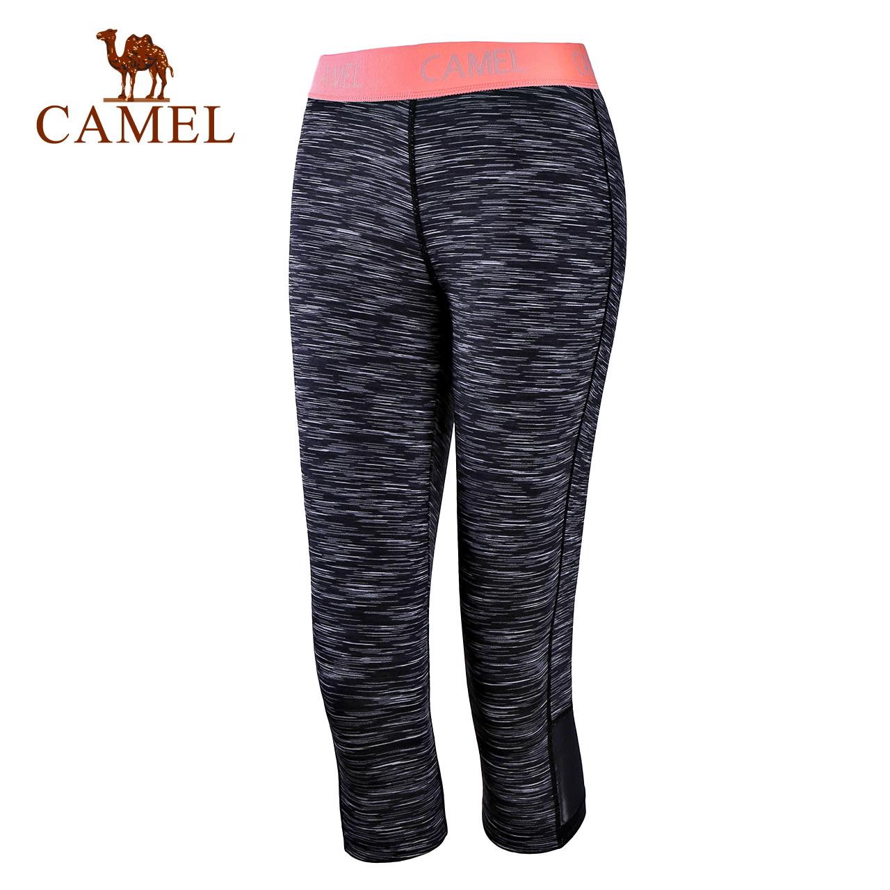 骆驼瑜伽服 健身跑步针织七分裤瑜伽裤女夏