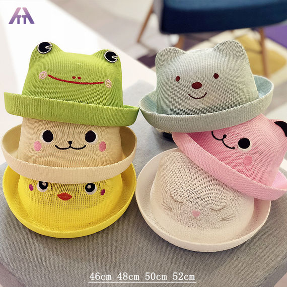Summer baby straw hat spring fisherman hat 6-12 months 01-2-4 years old children's basin hat hats boys and girls sun hat