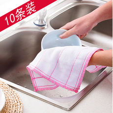 [Daily Specials]10 Pieces Water Absorbent Oil Cotton Gauze Dishwasher Lint 布洁布 Rag