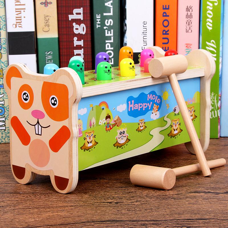 宝宝打地鼠7-24个月早教益智玩具敲打积木1-2-3岁男女孩儿童礼物