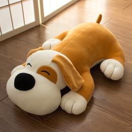 毛绒玩具羽绒棉狗狗公仔睡觉抱枕枕头可爱儿童布娃娃玩偶生日礼物