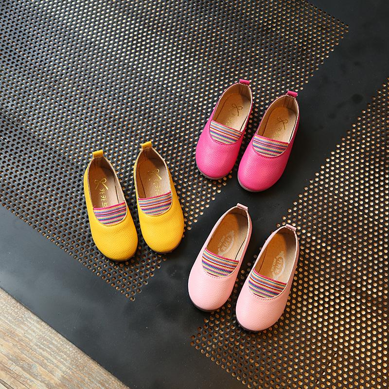 2018春秋季童鞋女童皮鞋公主鞋宝宝软底中大童2-3-5-7岁儿童单鞋