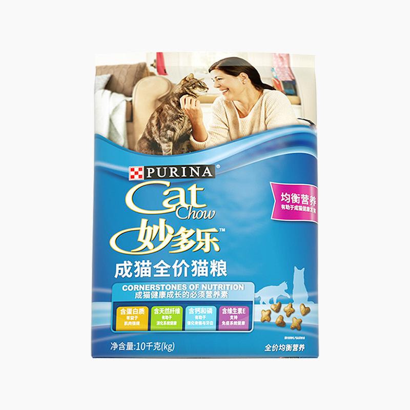 波奇网宠优妙多乐猫粮成猫粮10kg普瑞纳猫咪主粮猫食猫粮包邮成猫