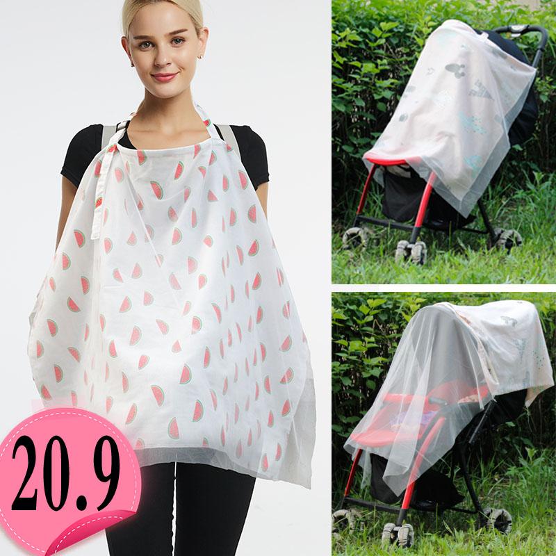 纱布罩衣哺乳巾外出夏季纯棉喂奶巾哺乳衣防走光遮羞布披肩遮挡衣