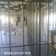 Shanghai office office building decoration Light steel keel partition wall installation construction Gypsum board partition wall ceiling