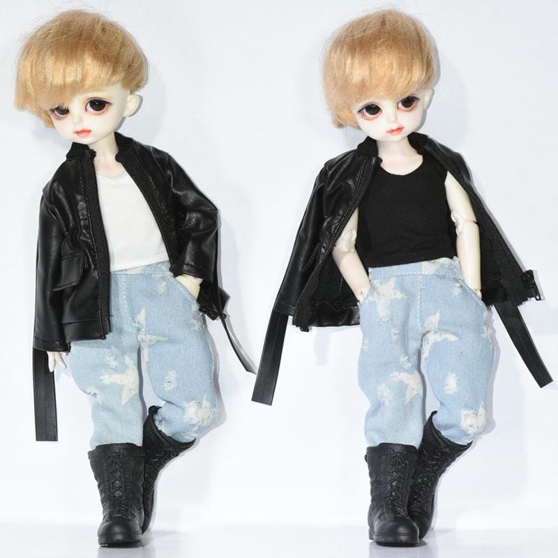 小布blythe娃衣 BJD.SD 6六分娃衣男女款外套皮衣牛仔裤 新品现货
