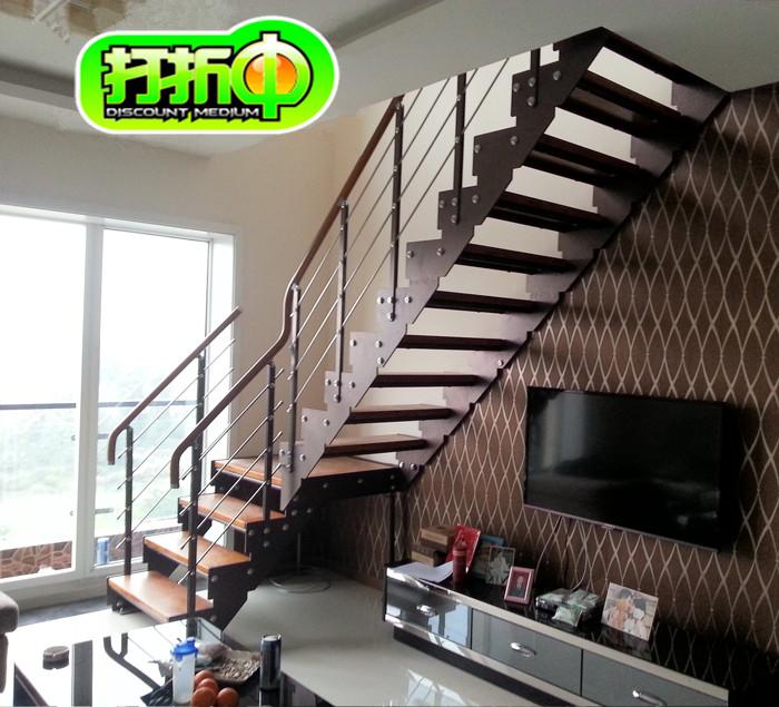 复式楼梯家用楼梯室内楼梯复式阁楼旋转楼梯 双梁楼梯定做楼梯