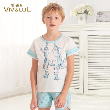 唯路易vivlul 儿童T恤夏 中大童短袖T恤 宝宝 棉打底衫半袖上衣