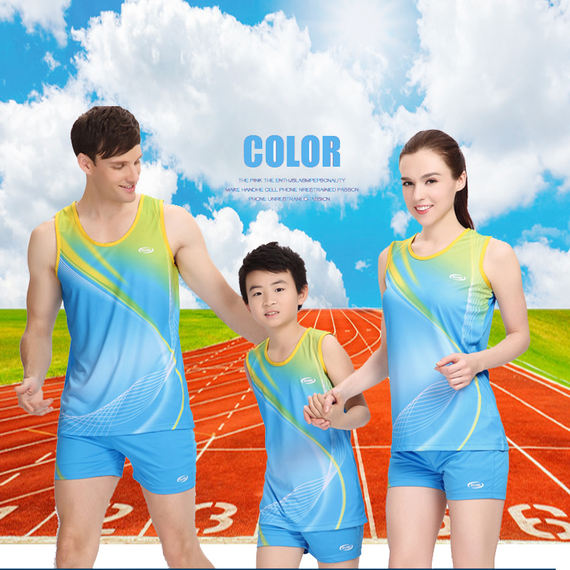 Children's track and field training suits boys and girls running competition clothing primary and secondary school track and field clothing vest boxer shorts