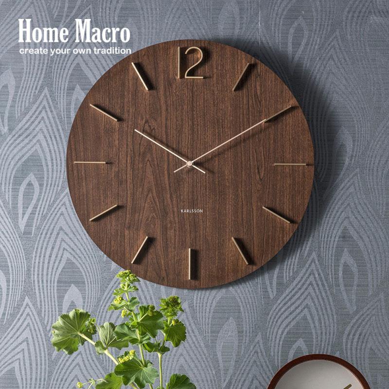 现货/荷兰KARLSSON/Meek挂钟50cm/进口北欧现代简约客厅超大时钟