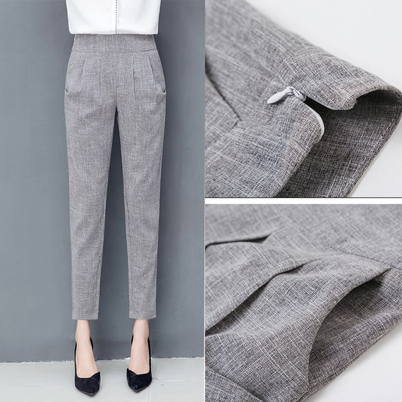 Cotton and linen harem pants women's thin section 2018 summer pants new linen pants small trousers loose casual nine pants