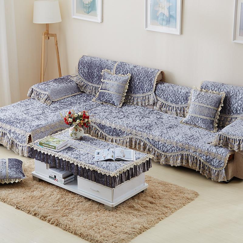 周边精致的绗缝处理,背面采用乳胶防滑颗粒,沙发垫不跑位.图片