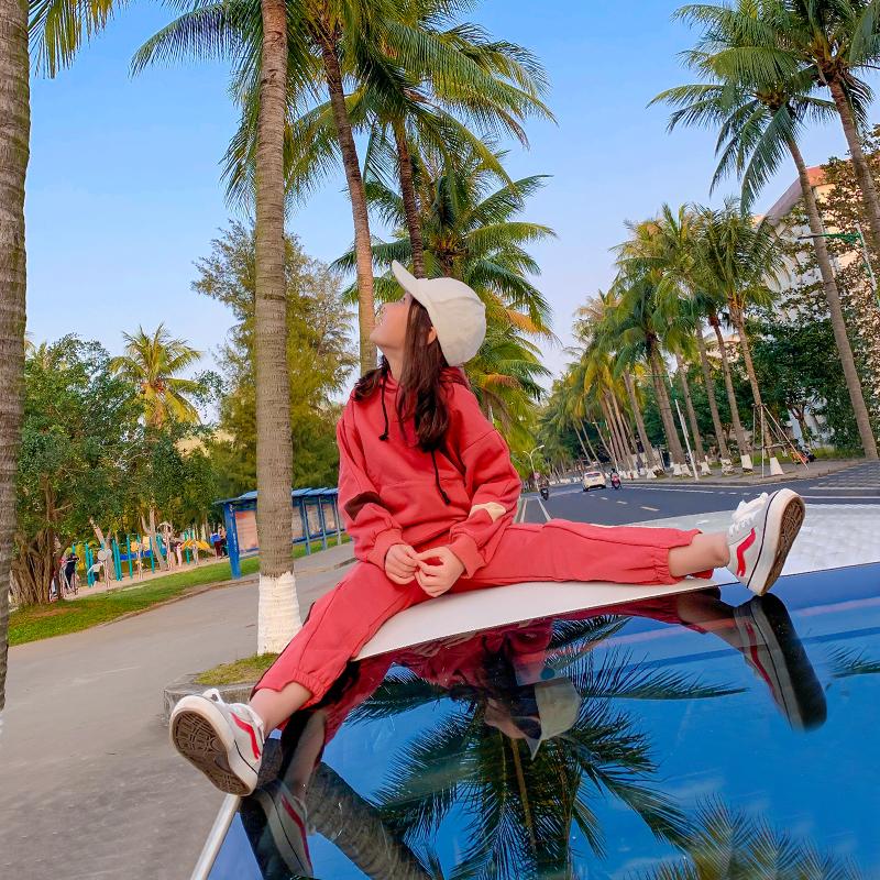 运动女童套装2019网红春秋款新款中大童卫衣超洋气时髦两件套儿童