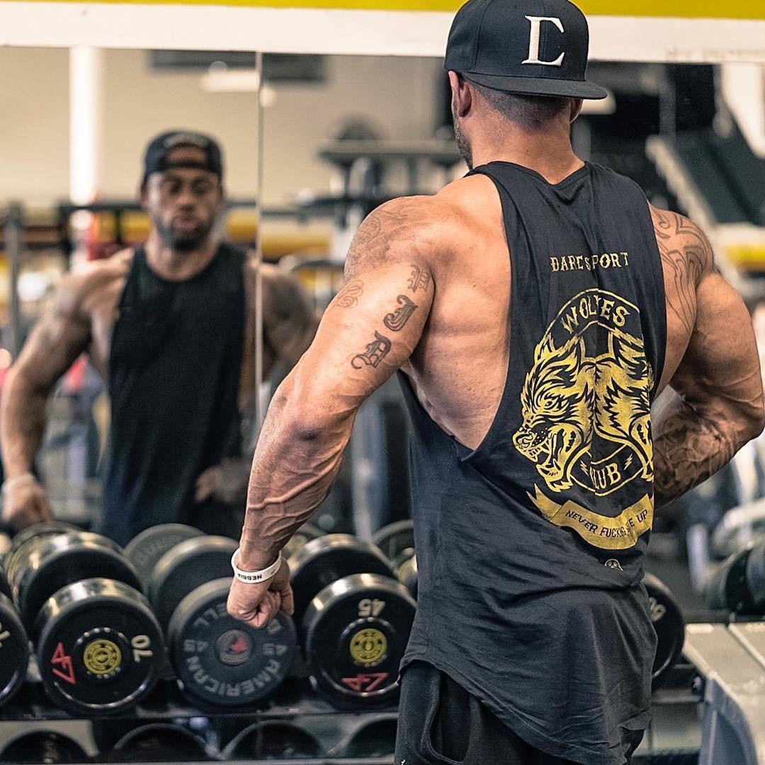 肌肉兄弟夏季健身马甲运动修身速干弹力坎肩无袖型男跑步透气背心