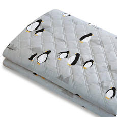 {SHOW South Korea station} genuine purchasing small penguin printing spelling Lingge quilted single safety electric blanket
