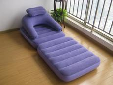 Flocking inflatable sofa bed dual purpose chair folding nap chair lazy sofa seat single sofa bed