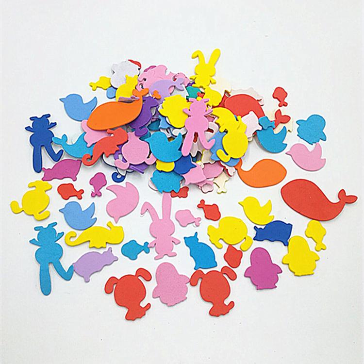 幼儿园小学儿童手工制作海绵贴纸 各种农场野生动物形状混装