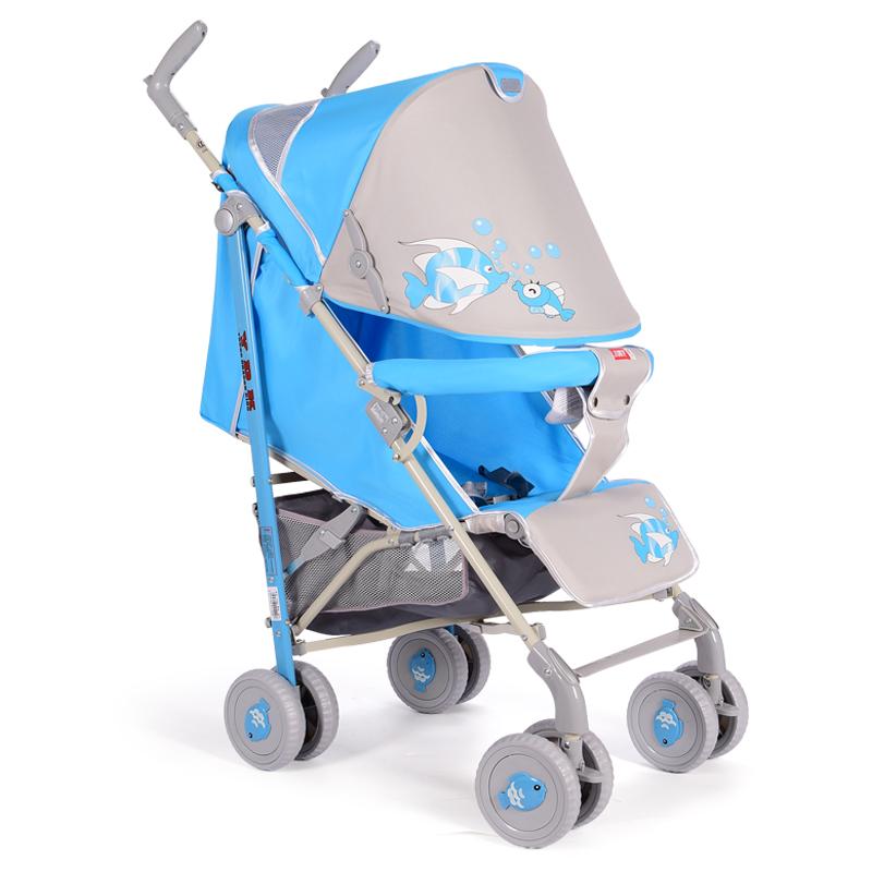 新款浩硕婴儿推车网销伞车可坐躺超轻便折叠简易避震小阿龙LT300