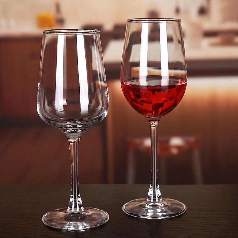 欧式红酒杯套装家用6只装水晶玻璃高脚杯2个加厚优雅大号葡萄酒杯图片