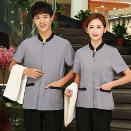 保洁服短袖 保洁服夏装 医院清洁员服装 物业保洁 PA保洁员制服