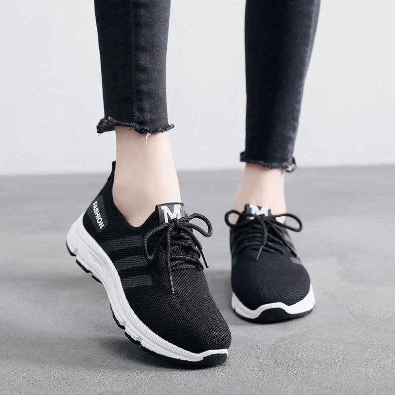 防滑北京布鞋加绒保暖运动鞋女系带休闲软底妈妈鞋平底跑步棉鞋