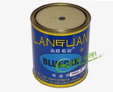 Taiwan sorghum blue crown glass paint single component PU glass special paint glass color paint 1kg