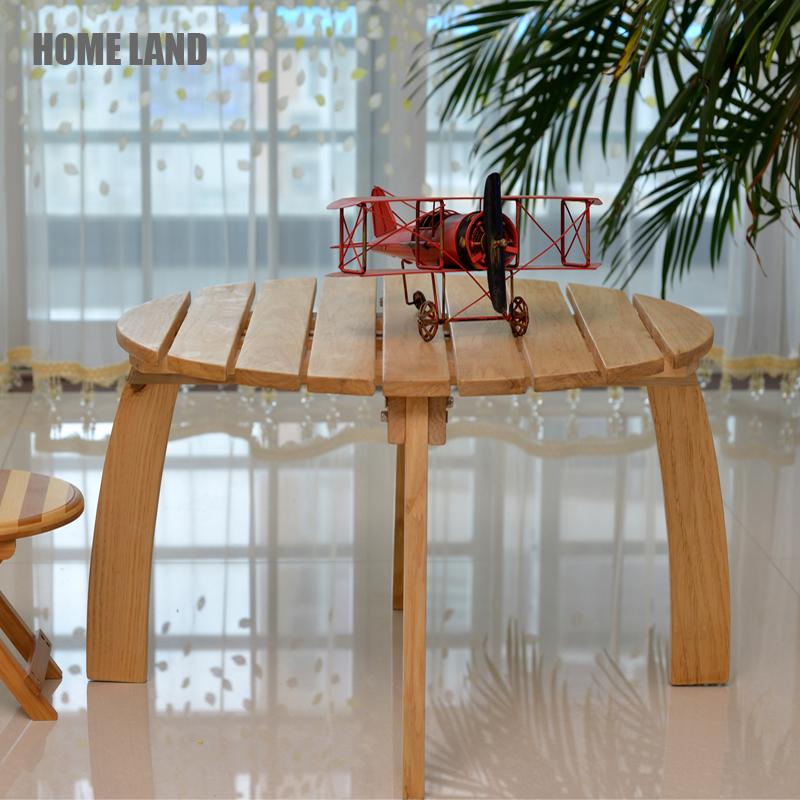 优选荷木实木圆桌 儿童学习桌 户外桌 简约现代茶几桌休闲桌 特价