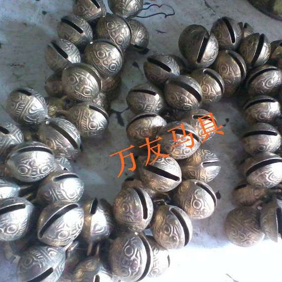 Copper bells, big tiger head bells, horse accessories, carriage accessories, bell bell accessories