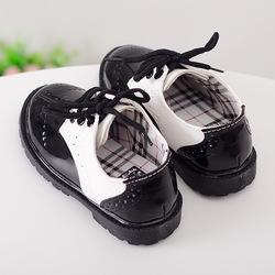 3岁儿童鞋男童英伦马丁靴女童秋鞋黑色小皮鞋春款宝宝鞋子公主鞋