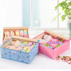 内衣收纳盒三件套布艺牛津布分格胸罩整理箱家用放内衣内裤收纳盒
