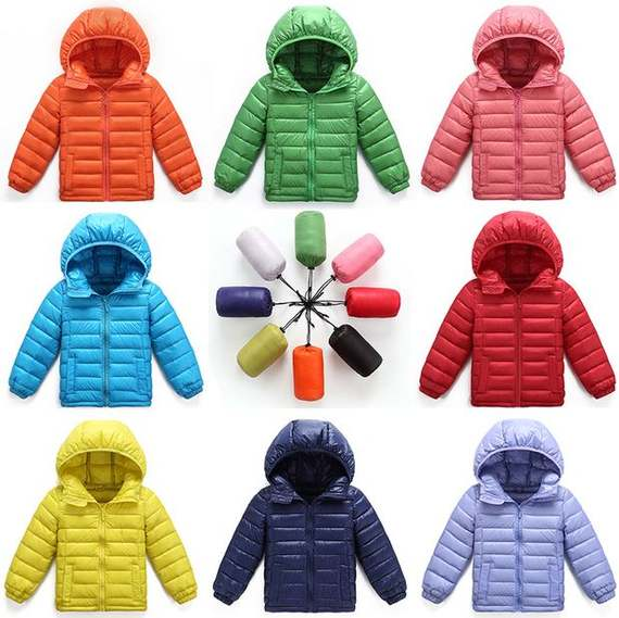 Children's wear children's down jacket boys and girls light short hooded down jacket New new small children's coat