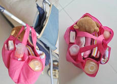 Maternal and child supplies wholesale special simple Mommy handbag baby items storage pocket convenient out of the green bag